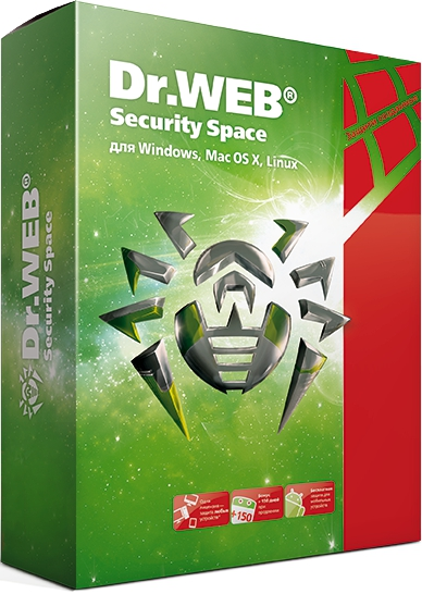 Dr.Web Security Space (2 ПК + 2 моб. устр./ 1 год)