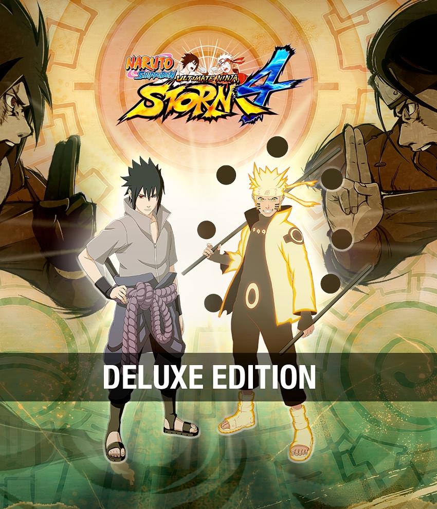 Naruto Shippuden: Ultimate Ninja Storm 4. Deluxe Edition (Цифровая версия)В Naruto Shippuden Ultimate Ninja Storm 4 вас ждет множество умений ниндзя, которые придется применить против опаснейшего врага. Мощнейшие «Абсолютные дзюцу», &#13;<br>&#13;<br>перевоплощения «Пробуждения», неподражаемые сюрикены и кунаи, а также уникальный стиль у каждого ниндзя! Подготовьтесь к самой долгожданной игре из серии Storm!<br>