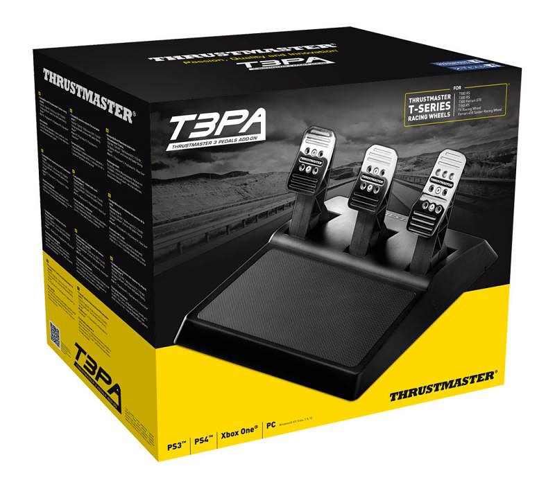 Педали Thrustmaster T3PA, 3 Pedals Add On для PS4 / PS3 / PC / Xbox One дополнительные авиа педали thrustmaster tfrp rudder pc ps3 ps4 2960764