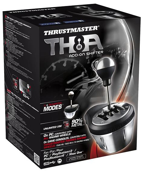 Коробка передач Thrustmaster TH8A Add-On Shifter для PS4 / PS3 / PC / Xbox One дополнительные авиа педали thrustmaster tfrp rudder pc ps3 ps4 2960764
