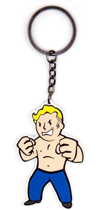 Брелок Fallout 4. Iron FistБрелок Fallout 4. Iron Fist создан по мотивам популярной видеоигры Fallout 4. Он выполнен в виде Волт-боя, который является своеобразным символом довоенной организации, упоминаемой в серии игр Fallout. Персонаж изображен с в виде лихого бойца по прозвищу «Железный кулак», как бы говорящий своему спарринг-партнеру:«А ты с какой Пустоши будешь?».<br>