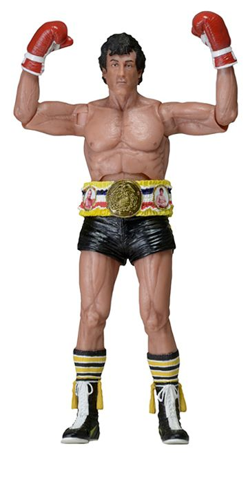 Фигурка Rocky 40th Anniversary. Rocky в черных трусах (17 см)Представляем вашему вниманию фигурку Rocky 40th Anniversary Rocky, выпущенную в честь 40-летнего юбилея спортивной драмы Рокки, снятую режиссёром Джоном Эвилдсеном по сценарию Сильвестра Сталлоне и выпущенную в 1976 году.<br>
