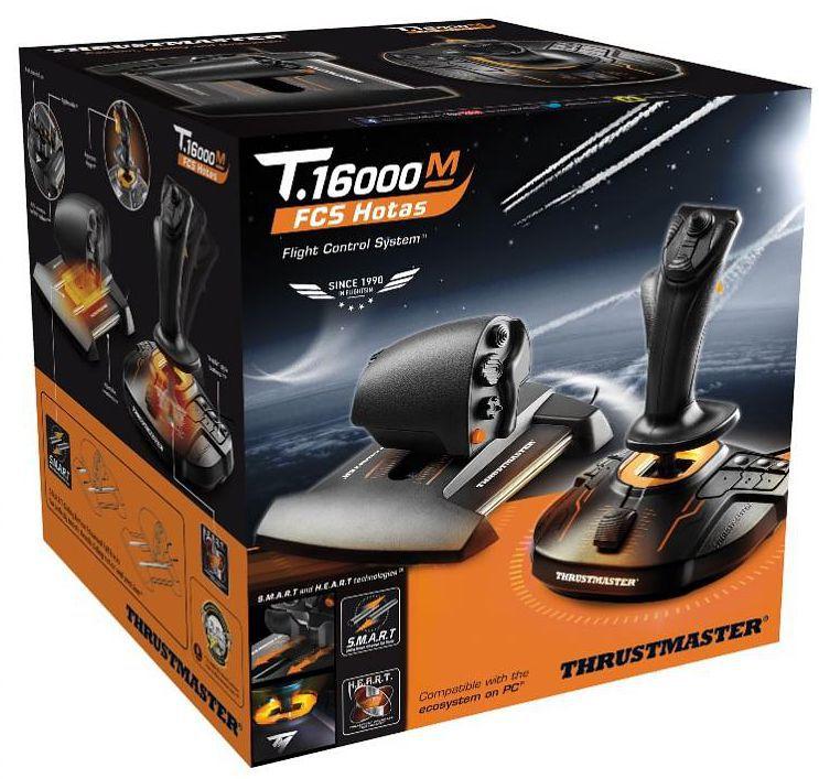 Джойстик Thrustmaster T-16000M FCS Hotas + рычаг TWCS для PC