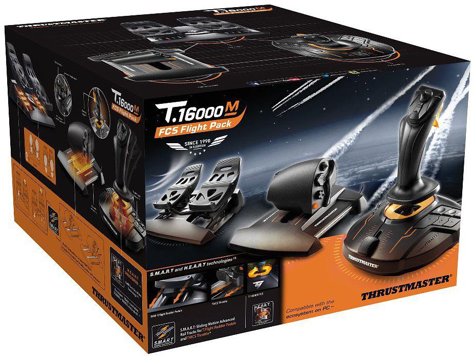 Thrustmaster Flight Pack – Джойстик T-16000M FCS + рычаг TWCS + педали TFRP для PCЗакажите набор Thrustmaster Flight Pack – Джойстик T-16000M FCS + рычаг TWCS + педали TFRP для PC до 17:00 часов 19 января 2017 года и получите в подарок бонусные коды к игре War Thunder: Истребитель Як-3-ВК-107 и 30 дней премиум аккаунта.<br>