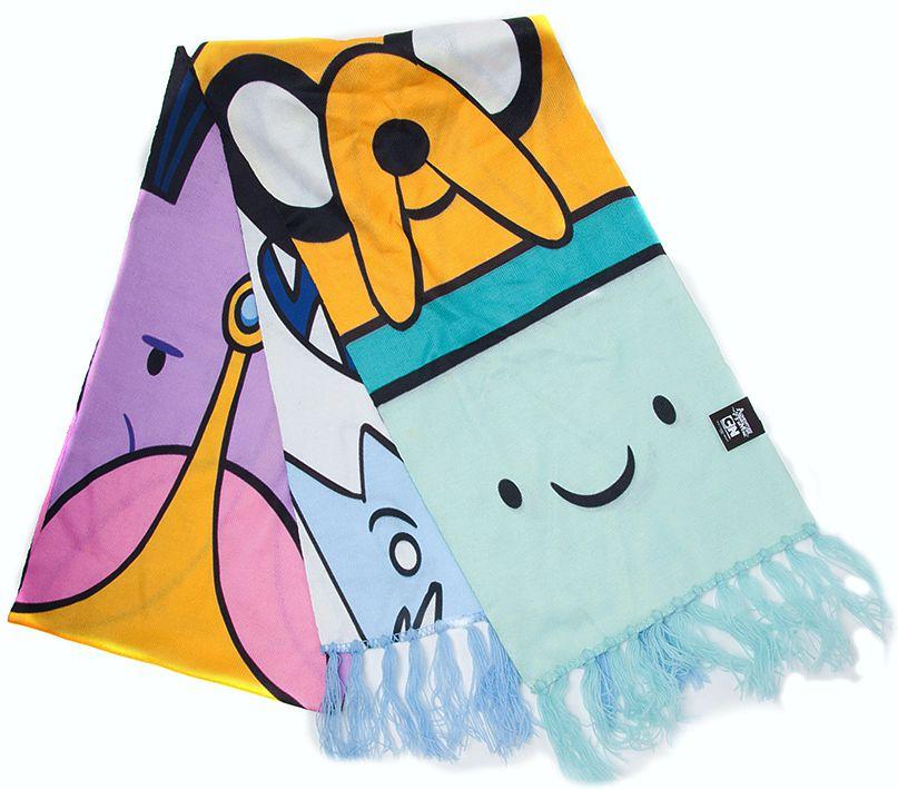 Шарф Adventure Time All Characters Knitted ScarfПредставляем вашему внимаю шарф Adventure Time All Characters Knitted, созданный по мотивам мультсериала Adventure Time (Время Приключений с Финном и Джейком). Яркий шарф, на котором изображены все персонажи, мультсериала, добавит изюминку вашему образу, а также согреет в зимний период.<br>
