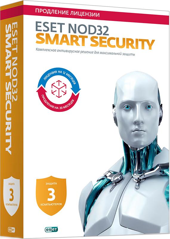 ESET NOD32 Smart Security. Продление (3 ПК, 1 год) (Цифровая версия)