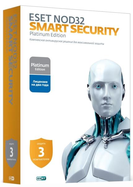 ESET NOD32 Smart Security (3 ПК, 2 года) (Цифровая версия)