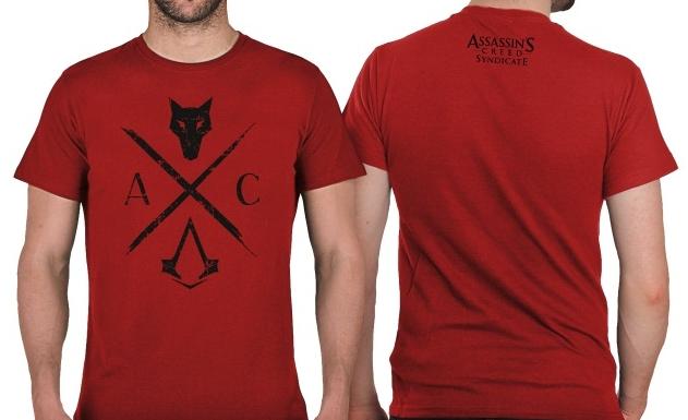 Футболка Assassin's Creed Syndicate (красная) (M)