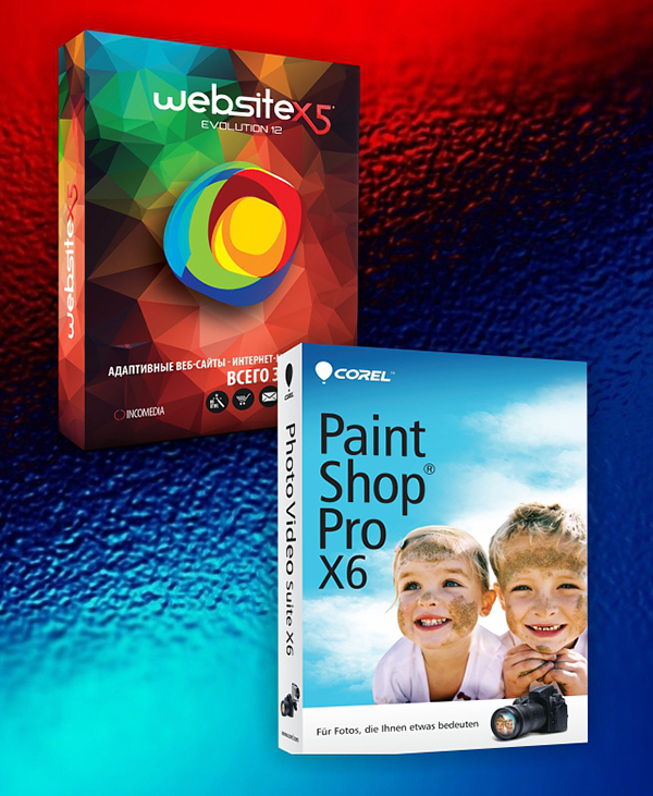 WebSite X5 Evolution + PaintShop Pro X6 OEM Edition (Цифровая версия)