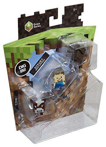 Майнкрафт, Набор фигурок Minecraft. Series 1. Spider, Steve & Cow. 3 в 1 от 1С Интерес