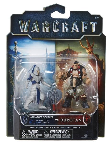 Набор фигурок Warcraft. Durotan & Alliance Soldier. 2 в 1 (7 см)