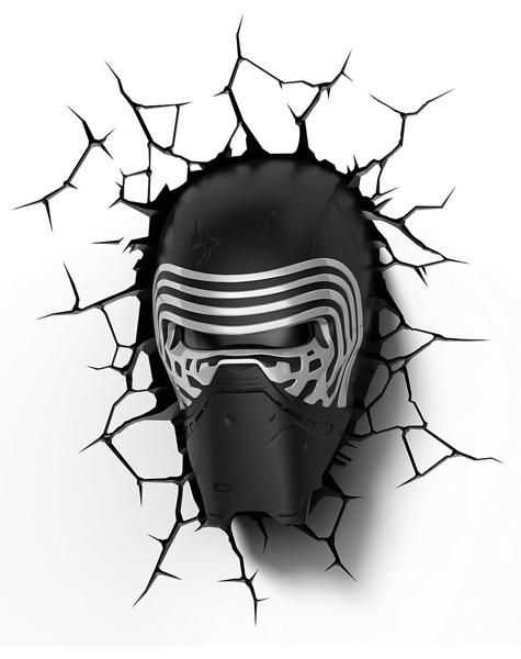 3D светильник Star Wars. Kylo Ren (Кайло Рен)Представляем вашему вниманию 3D светильник Star Wars. Kylo Ren (Кайло Рен), созданный по мотивам саги о Звездных Войнах.<br>