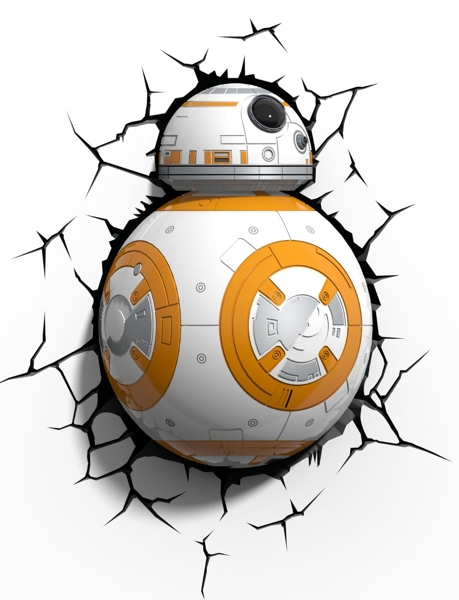 3D светильник Star Wars. Дроид BB-8 no 300pc 8 bb 3