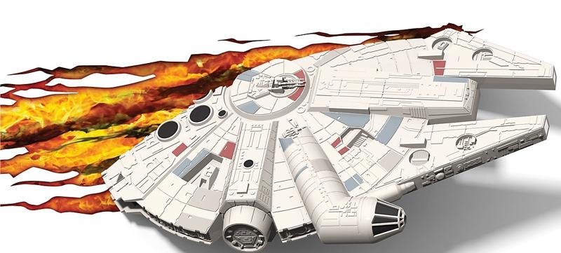 3D светильник Star Wars. Millennium Falcon (Тысячелетний сокол)Представляем вашему вниманию 3D светильник Star Wars. Millennium Falcon (Тысячелетний сокол), созданный по мотивам саги о Звездных Войнах.<br>