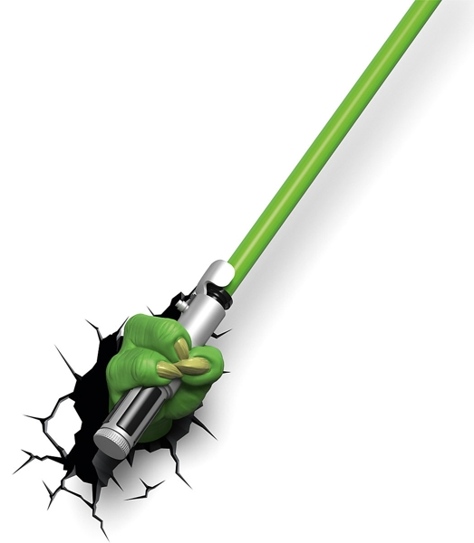 3D светильник Star Wars. Меч Йоды светильник светодиодный 3dlightfx star wars lead droid 3d
