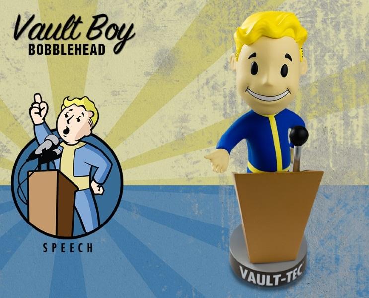 Фигурка Fallout 4. Vault Boy. 111 Bobbleheads. Series Two. Speech (13 см)Представляем вашему вниманию фигурку Fallout 4. Vault Boy. 111 Bobbleheads. Series Two. Speech, созданную по мотивам компьютерной игры Fallout и выпущенную по случаю выхода новой части серии игры в жанре Action/RPG!.<br>