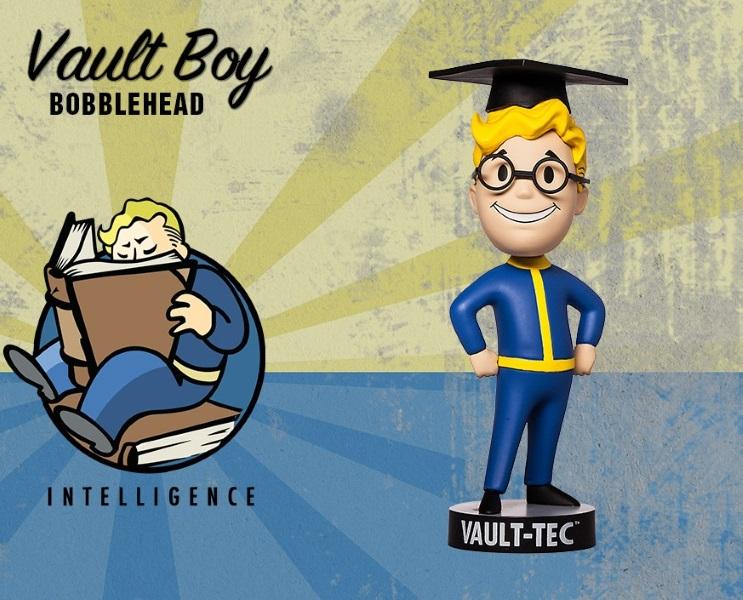 Фигурка Fallout 4. Vault Boy. 111 Bobbleheads. Series Two. Intelligence (13 см)Представляем вашему вниманию фигурку Fallout 4. Vault Boy. 111 Bobbleheads. Series Two. Intelligence, созданную по мотивам компьютерной игры Fallout и выпущенную по случаю выхода новой части серии игры в жанре Action/RPG!<br>