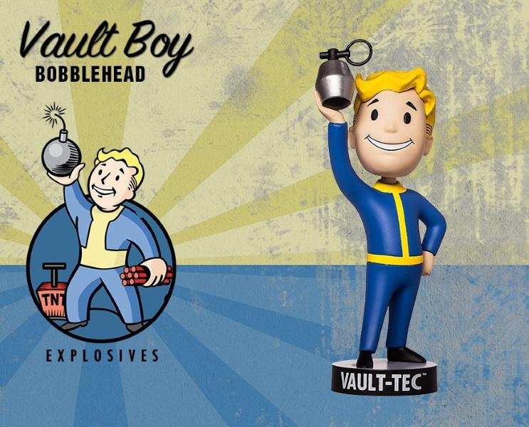 Фигурка Fallout 4. Vault Boy. 111 Bobbleheads. Series Two. Explosives (13 см)Представляем вашему вниманию фигурку Fallout 4. Vault Boy. 111 Bobbleheads. Series Two. Explosives, созданную по мотивам компьютерной игры Fallout и выпущенную по случаю выхода новой части серии игры в жанре Action/RPG!<br>