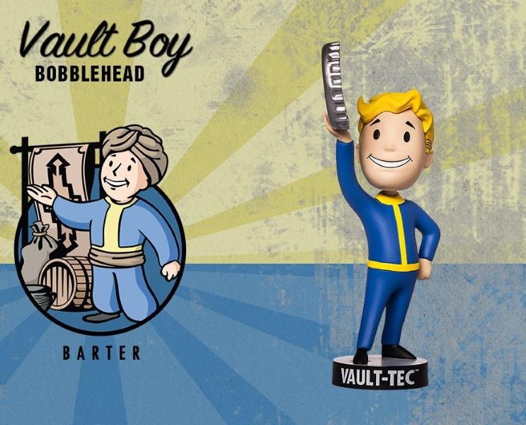 Фигурка Fallout 4. Vault Boy. 111 Bobbleheads. Series Two. Barter (13 см)Представляем вашему вниманию фигурку Fallout 4. Vault Boy. 111 Bobbleheads. Series Two. Barter, созданную по мотивам компьютерной игры Fallout и выпущенную по случаю выхода новой части серии игры в жанре Action/RPG!<br>