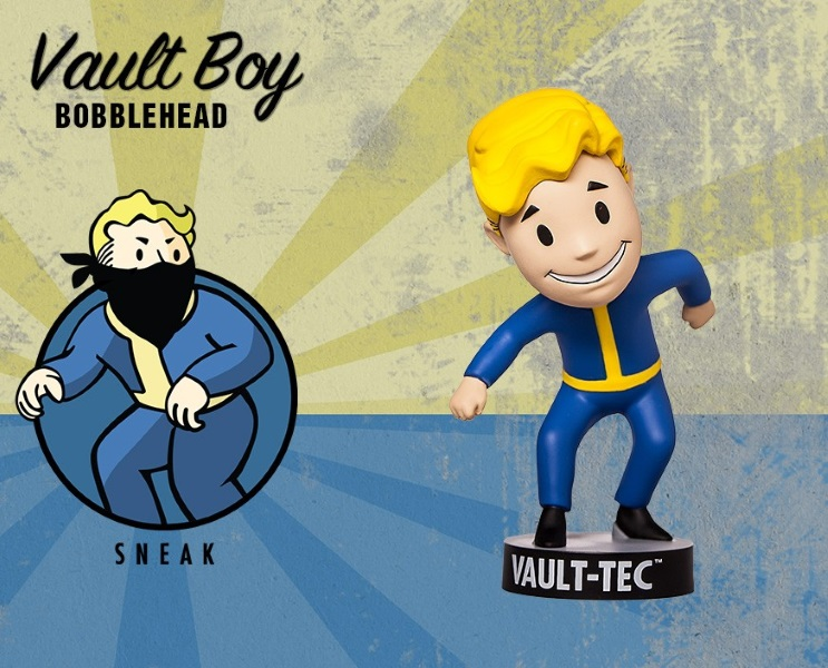 Фигурка Fallout 4. Vault Boy. 111 Bobbleheads. Series Two. Sneak (13 см) фигурка fallout 4 vault boy 111 bobbleheads series two explosives 13 см
