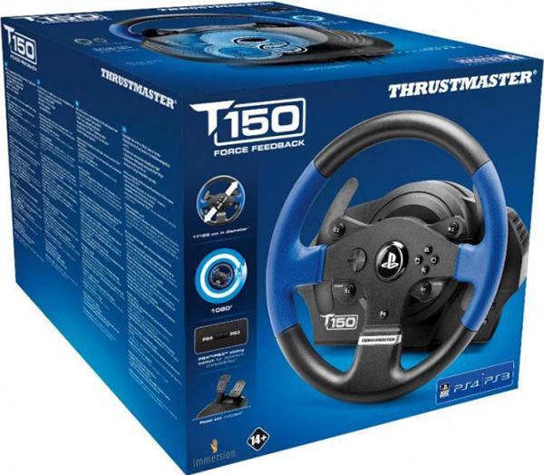 Гоночный руль Thrustmaster T150 RS EU Version для PS4 / PS3 / PCПредставляем вашему вниманию гоночный руль Thrustmaster T150 RS EU Version – высокоточный гоночный руль для PlayStation 4, PlayStation 3 и PC, угол поворота которого регулируется в диапазоне от 270° до 1080°.<br>
