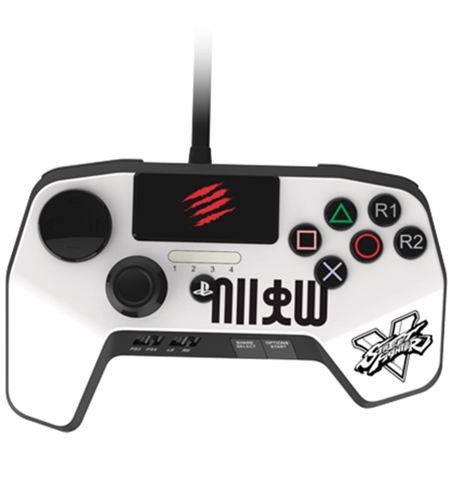 Аркадный пад Mad Catz Street Fighter V FightPad Pro Ryu для PS4 (белый) small tornado pro stick street fighter 8 d1