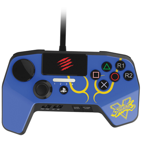 Аркадный пад Mad Catz Street Fighter V FightPad Pro Chun Li для PS4 (синий) mad catz street fighter v te s аркадный стик д��я ps3 ps4