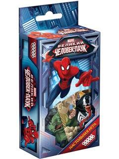 Настольная игра Человек-ПаукПредставляем вашему вниманию настольную игру Человек-Паук, быструю карточную игру, в которой важны удача и расчет.<br>