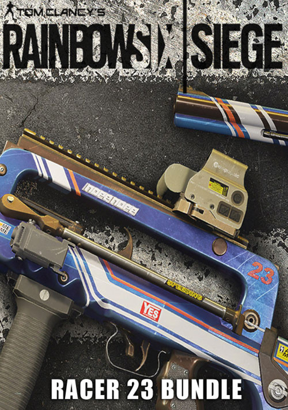 Tom Clancys Rainbow Six: Осада. Racer 23 Bundle. Дополнительные материалы (Цифровая версия)Приобретая дополнение Tom Clancys Rainbow Six: Осада. Racer 23 Bundle, вы получаете эксклюзивную раскраску Гонщик 23 для изменения внешнего вида вашего оружия GIGN. Чтобы использовать, откройте снаряжение оперативника.<br>