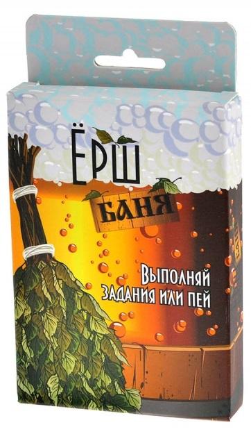 Настольная игра Ёрш БаняВ настольной игре Ёрш Баня нужно выполнять безумные задания или пить.<br>
