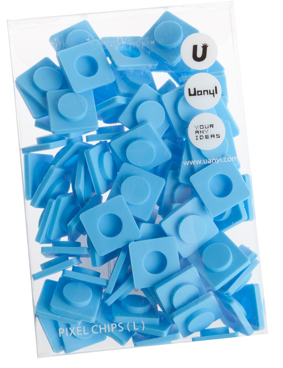 Пиксельные фишки Большие WY-P001 (Pixel Chips Large) (Голубой)