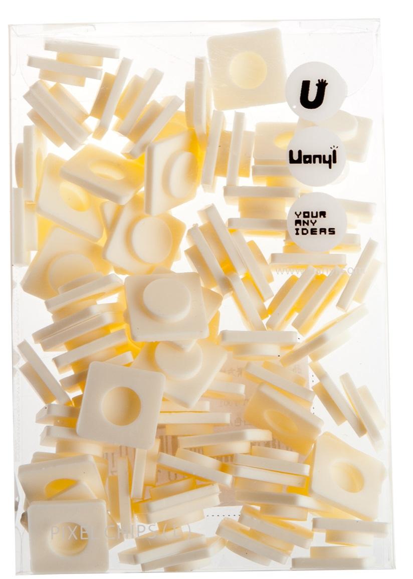 Пиксельные фишки Большие WY-P001 (Pixel Chips Large) (Молочный белый)