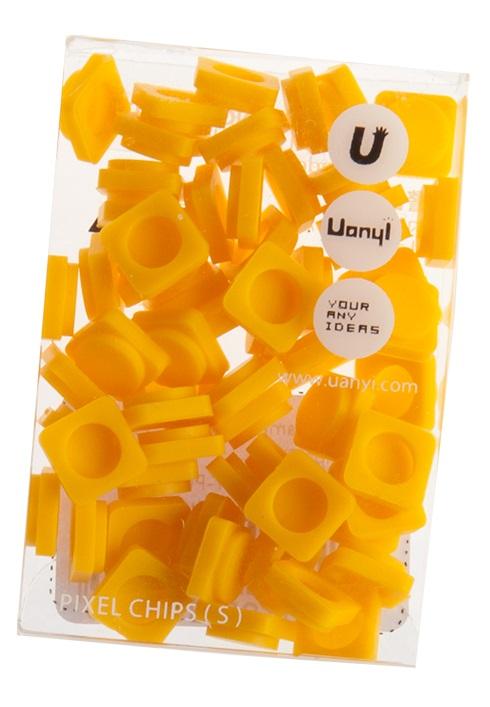Пиксельные фишки Маленькие WY-P002 (Pixel Chips Small) (Желтый) #8516. пиксельные, wy-p002