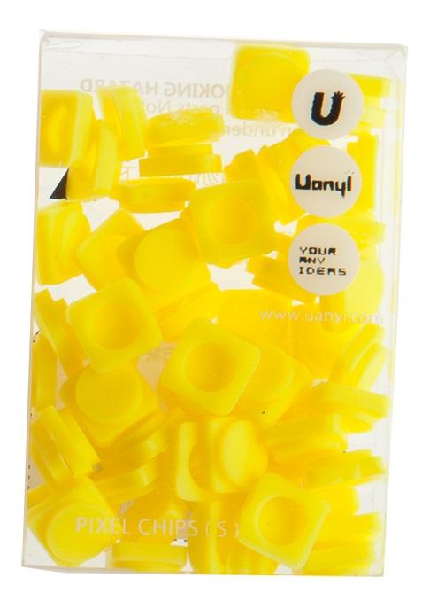 Пиксельные фишки Маленькие WY-P002 (Pixel Chips Small) (Банановый желтый) #8517. пиксельные, wy-p002
