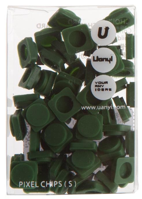 Пиксельные фишки Маленькие WY-P002 (Pixel Chips Small) (Темно-зеленый)