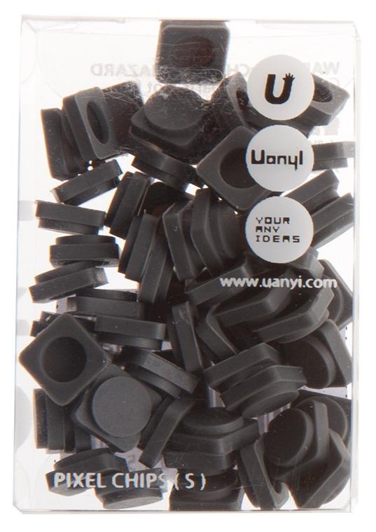 Пиксельные фишки Маленькие WY-P002 (Pixel Chips Small) (Темно-серый)