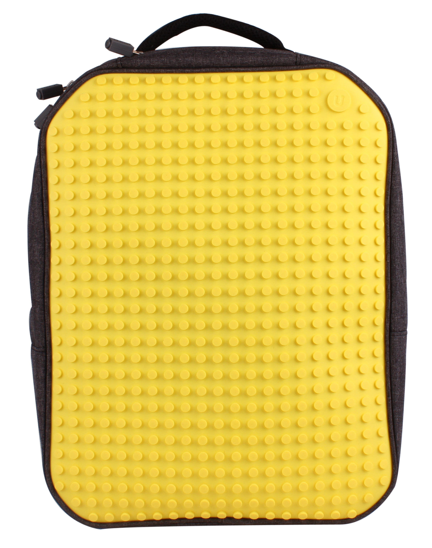 Большой пиксельный рюкзак с ортопедической спинкой (Canvas classic pixel Backpack) WY-A001 (Желтый) большой пиксельный универсальный чехол для смартфона pixel felt phone pocket фуксия зеленый
