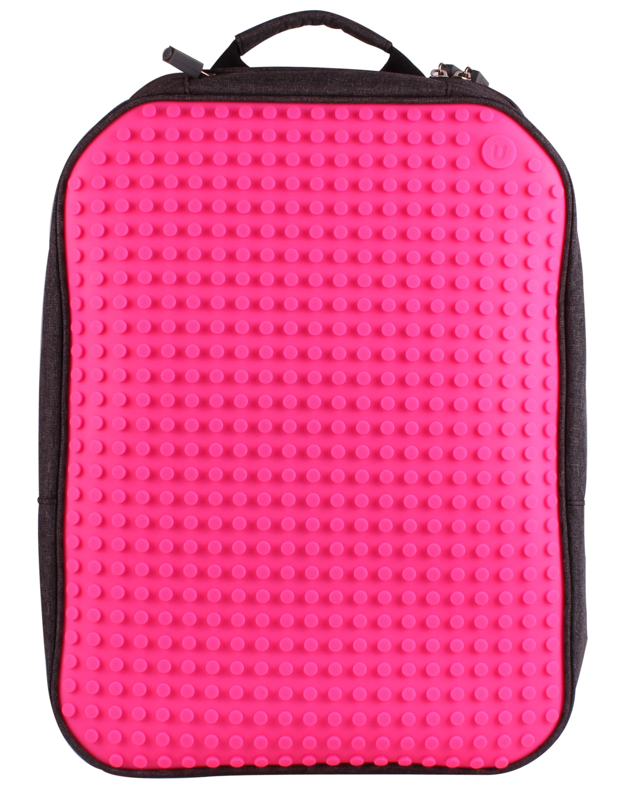 Большой пиксельный рюкзак с ортопедической спинкой (Canvas classic pixel Backpack) WY-A001 (Фуксия) большой пиксельный универсальный чехол для смартфона pixel felt phone pocket фуксия зеленый