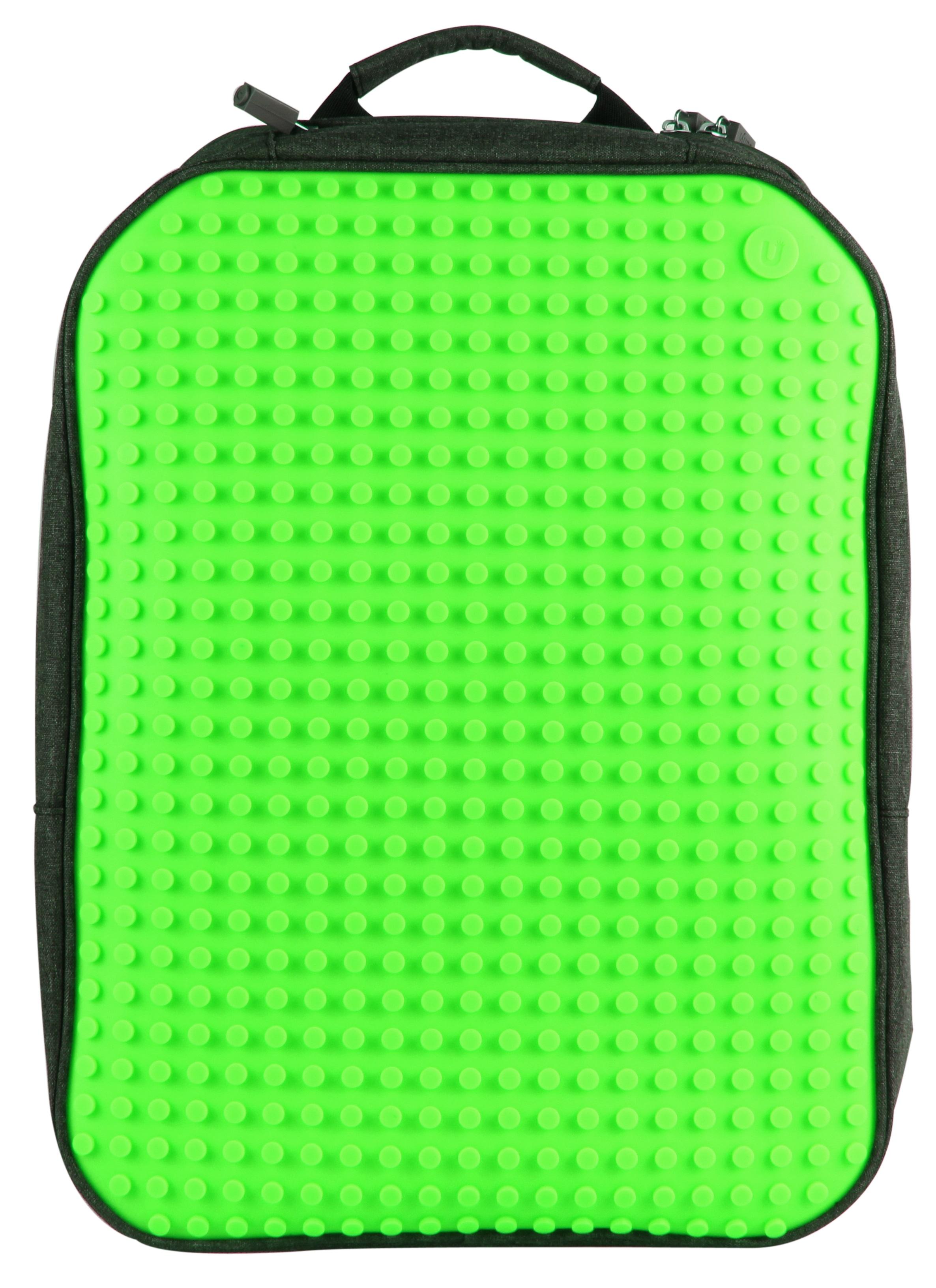 Большой пиксельный рюкзак с ортопедической спинкой (Canvas classic pixel Backpack) WY-A001 (Зеленый) большой пиксельный универсальный чехол для смартфона pixel felt phone pocket фуксия зеленый