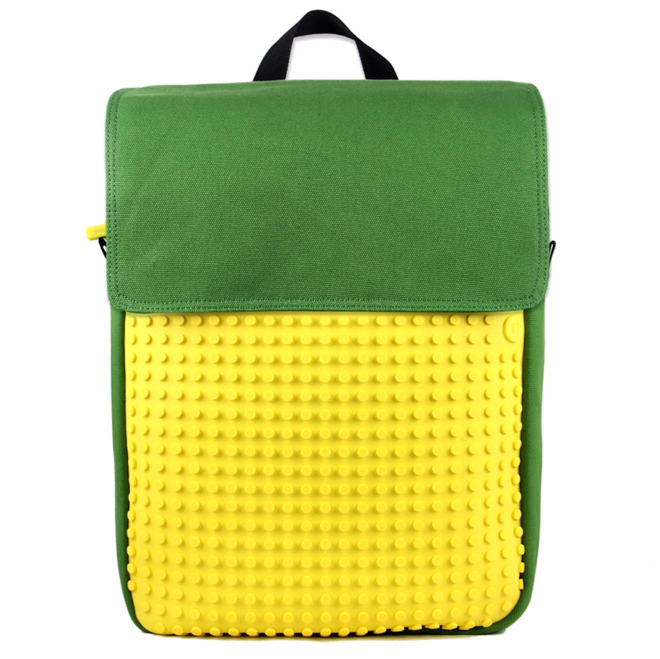 Пиксельный рюкзак (Canvas Top Lid pixel Backpack) WY-A005 (Зеленый/желтый)Представляем вашему вниманию пиксельный рюкзак (Canvas Top Lid pixel Backpack) WY-A005, имеющий силиконовую панель, на которой с помощью «пикселей» в виде мозаики выкладывается абсолютно любой рисунок.<br>