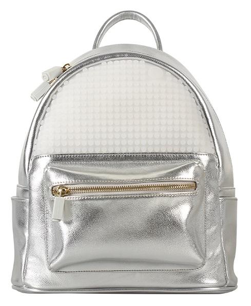 Мини рюкзак (Pocker Face Backpack) WY-A020 (Серебряный)Представляем вашему вниманию мини рюкзак (Pocker Face Backpack) WY-A020, имеющий силиконовую панель, на которой с помощью «пикселей» в виде мозаики выкладывается абсолютно любой рисунок.<br>