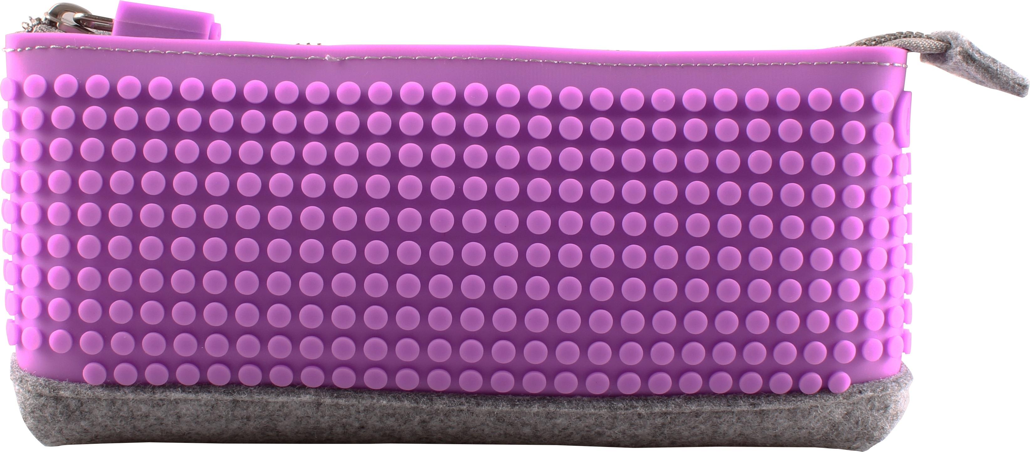 Пиксельный пенал (Pencil Case) WY-B002 (Фиолетовый)