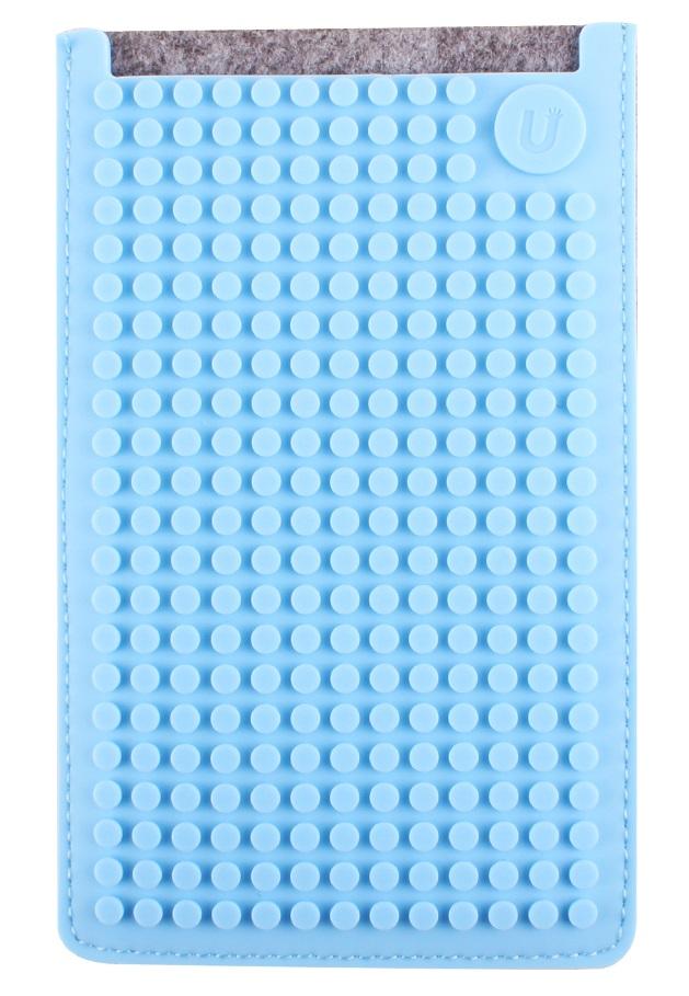 Большой пиксельный универсальный чехол для смартфона (Pixel felt phone pocket) (Серый/светло-голубой) большой пиксельный универсальный чехол для смартфона pixel felt phone pocket фуксия зеленый
