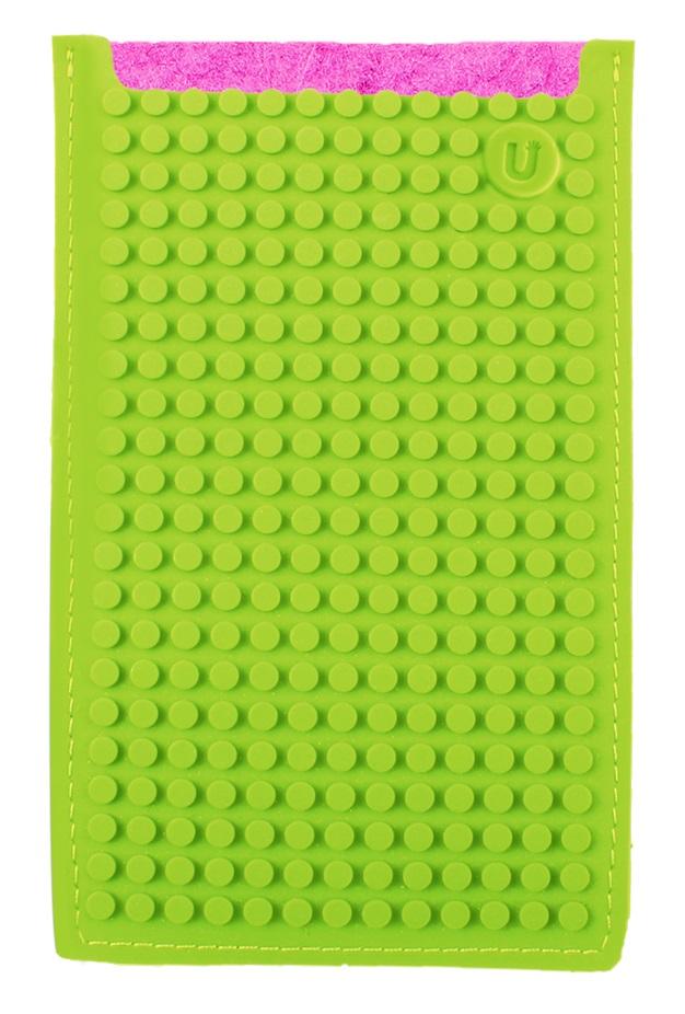 Большой пиксельный универсальный чехол для смартфона (Pixel felt phone pocket) (Фуксия/зеленый) большой пиксельный универсальный чехол для смартфона pixel felt phone pocket фуксия зеленый