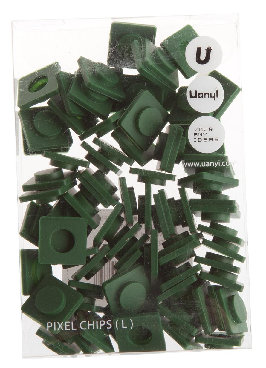 Пиксельные фишки Большие WY-P001 (Pixel Chips Large) (Темно-зеленый)