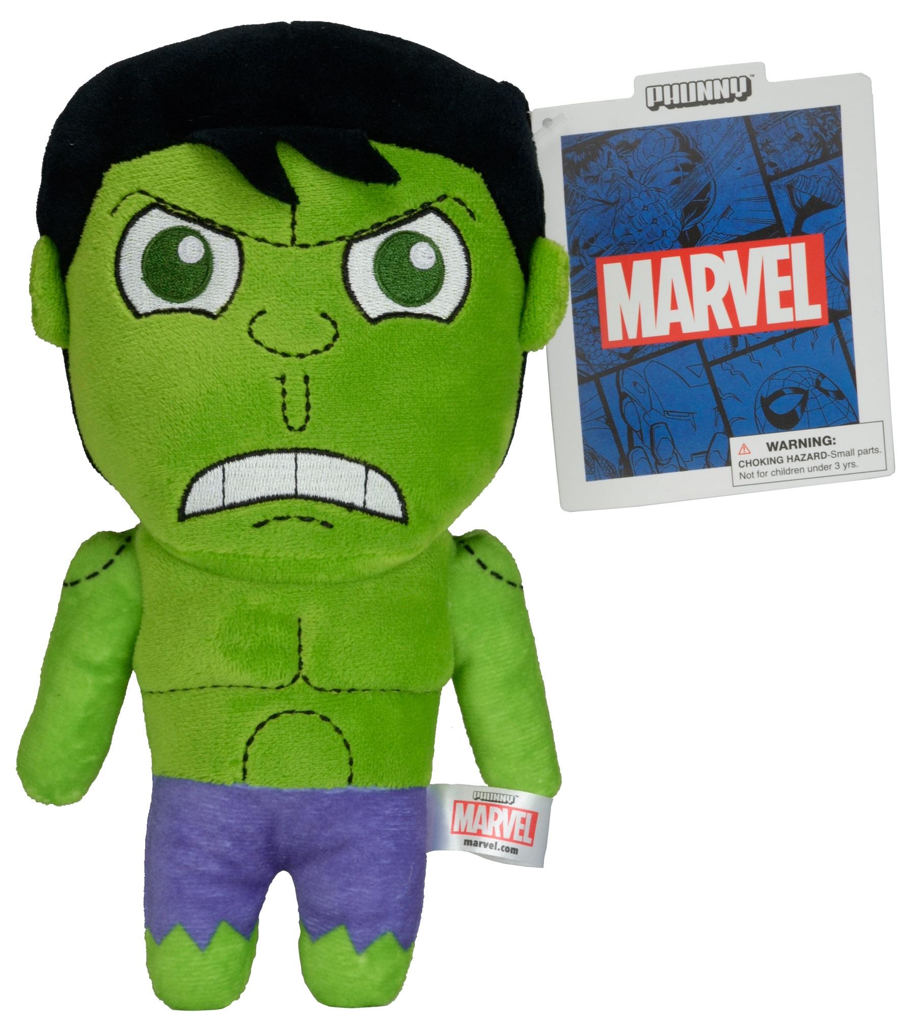 Мягкая игрушка Marvel Phunnys. Hulk (20 см)