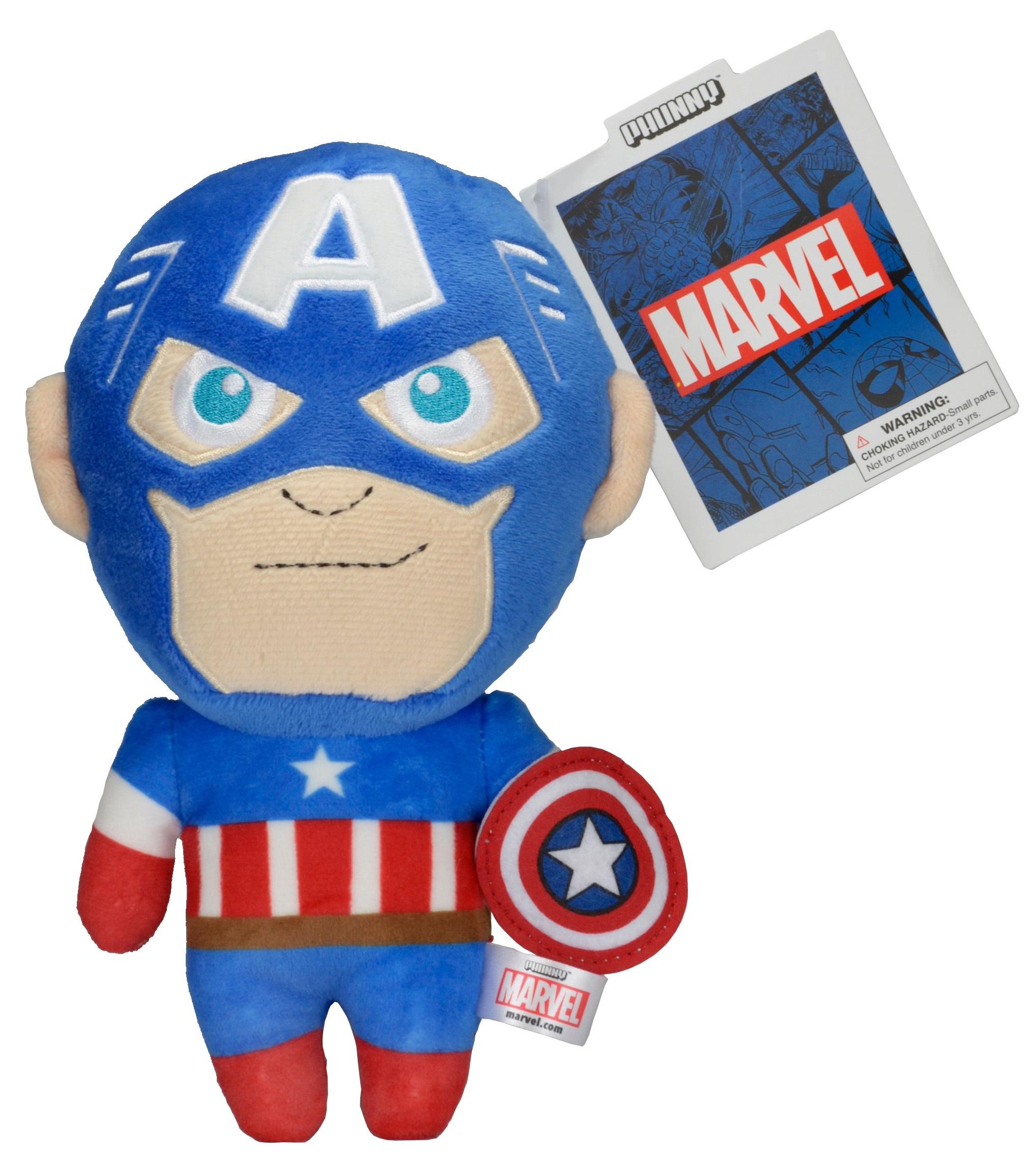 Мягкая игрушка Marvel Phunnys. Captain America (20 см)