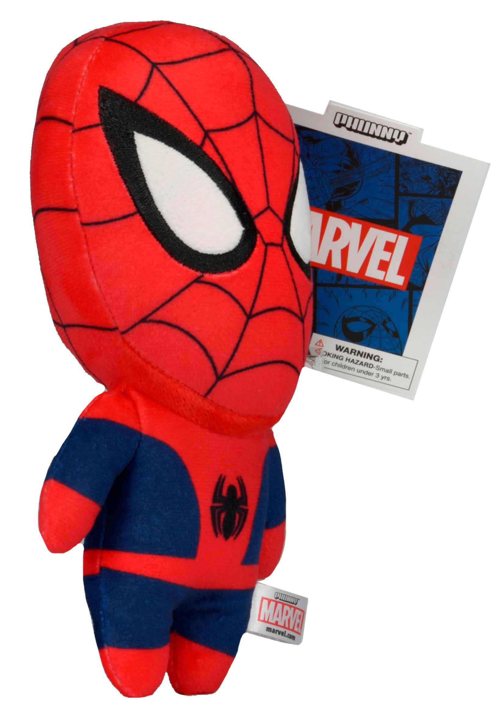 Фото Мягкая игрушка Marvel Phunnys. Spider-Man (20 см) marvel phunny s мягкая игрушка iron man