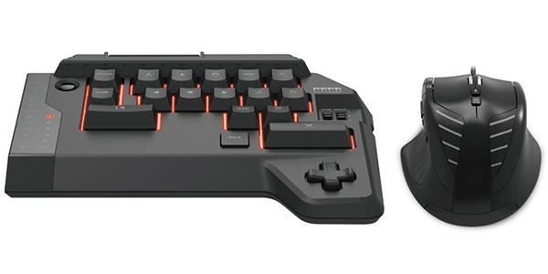 Кейпад Hori T.A.C. 4 + мышь проводные оптические игровые для PS4 / PS3Кейпад Hori TAC 4 (Tactical Assault Commander) – клавиатура специально рассчитаная под PS4 и не включающая полноценной раскладки для ввода текста. Вместо этого мини-блок дублирует все кнопки контроллера DualShock 4 в форме клавиатуры. Мышь же будет незаменимым инструментом для игры в FPS, где игрок с таким набором явно будет превосходить тех, кто использует контроллер.<br>
