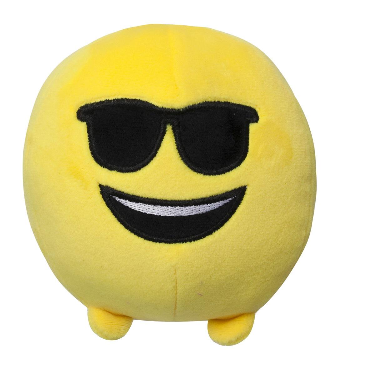 Мягкая игрушка Imoji. Крутой (11 см)Представляем вашему вниманию мягкую игрушку Imoji. Крутой в виде одного из смайлов самого популярного месенджера WhatsApp.<br>